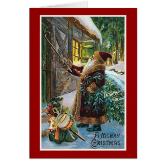 """God jul"" vintagejul Hälsningskort"