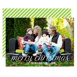 God jul vit för fotokort som | skrivar, överdrar 12,7 x 17,8 cm inbjudningskort
