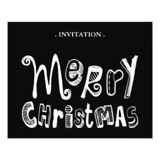 God jul - vittextdesign flygblad