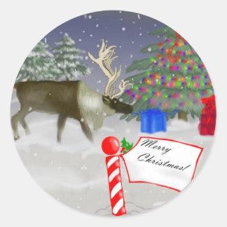God julälg runt klistermärke