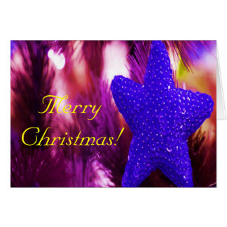 God julblåttstjärna hälsningskort