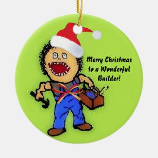 God julbyggmästare julgransprydnad keramik