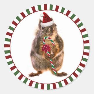 God julekorreklistermärkear runt klistermärke