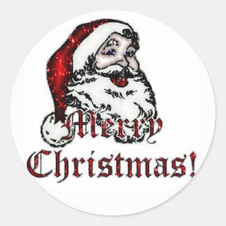 God juletikett runt klistermärke