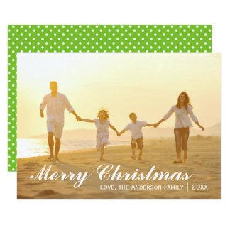 God julfotoet w/Green pricker - kortet 3x5 8,9 X 12,7 Cm Inbjudningskort