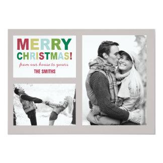 God julfotokort 12,7 x 17,8 cm inbjudningskort