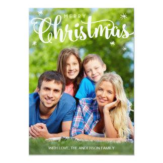 God julfotokort, enkelt helgdagkort 12,7 x 17,8 cm inbjudningskort