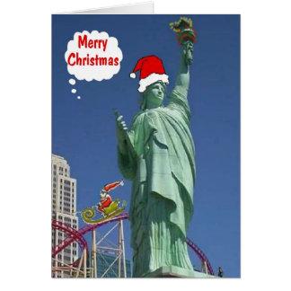 God julfrihetsgudinnan & Santa LV kort