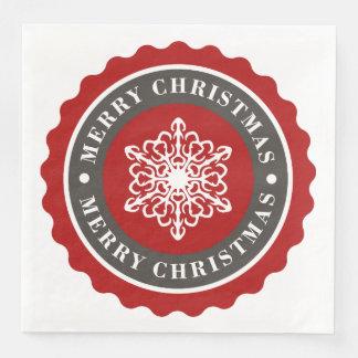 God julhelgdagSnowflake Pappersservetter