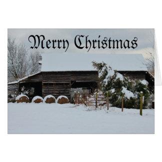 God julhöladugård hälsningskort