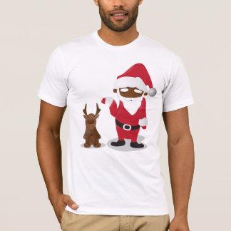 God julHomeboys: Svart Santa & Blingin Tee
