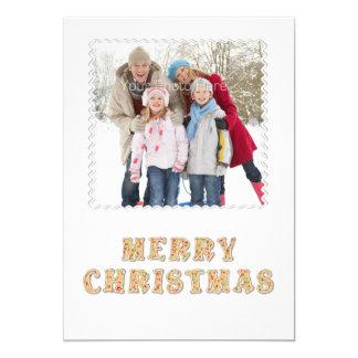 God julkakatext, fotokort 12,7 x 17,8 cm inbjudningskort