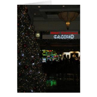 God julkasinokort hälsnings kort