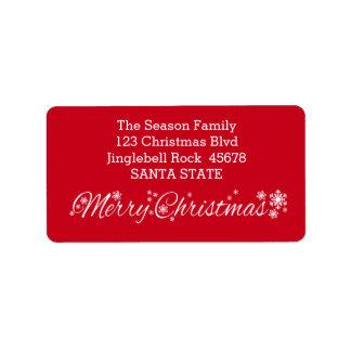 God julklassiker adressetikett