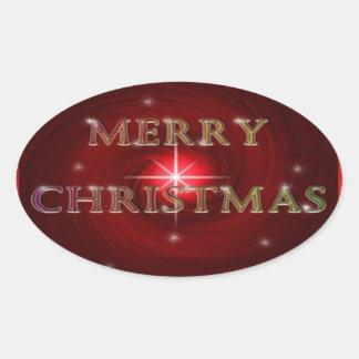 God julklistermärke ovalt klistermärke