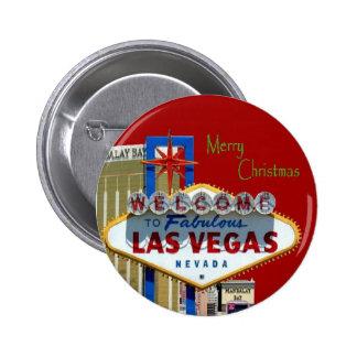 God julLas Vegas magnet Standard Knapp Rund 5.7 Cm