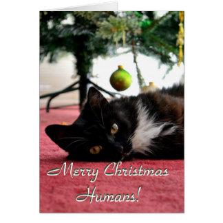 God julmänniskor! hälsningskort
