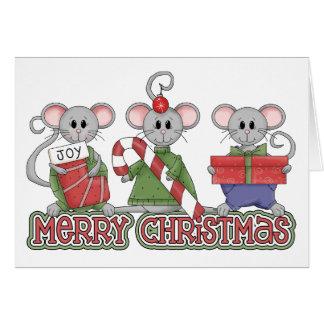 God julmöss hälsningskort