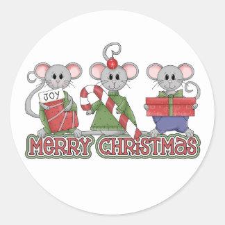 God julmöss runt klistermärke