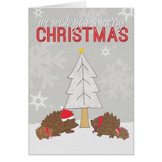 God julPorcupine Hälsningskort
