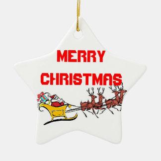 God julsanta prydnad stjärnformad julgransprydnad i keramik