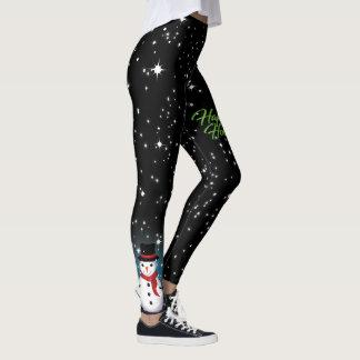 God julsnögubbeglad helg leggings