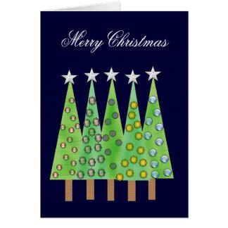 God julträd med Baubleshälsning Hälsningskort