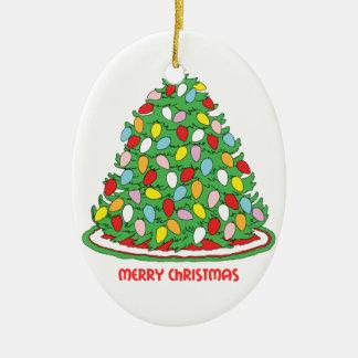 God julträd med multifärgad bubblar ljus julgranskula