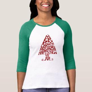 God julträdkvinna skjorta för långärmad T Tröjor