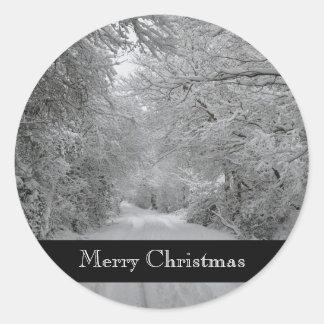 God julvinterklistermärke runt klistermärke