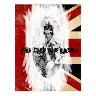 God Save The Queen punk/grunge Vykort
