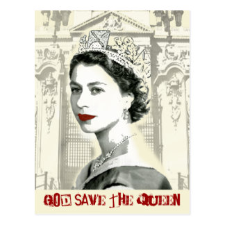 God Save The Queen Vykort
