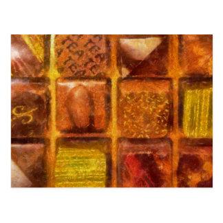 Godis - utmärkta choklader vykort