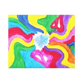Godisen bevattnar Autismkonstnären Canvastryck