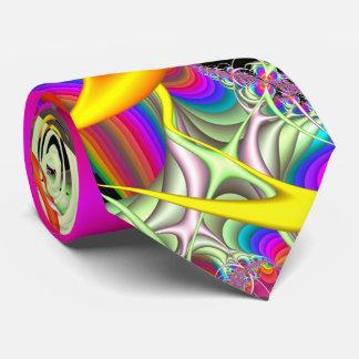 Godisen färgar den tvåsidiga Fractaltien Slips