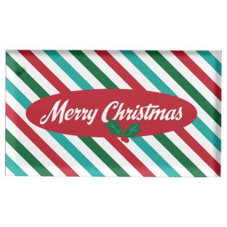 Godisen görar randig den Retro julPlacecard Bordskorthållare