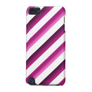 Godisen görar randig fodral för det Purple&Pink iP iPod Touch 5G Fodral