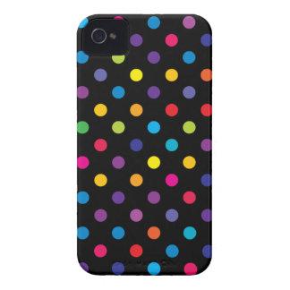 Godisfärgpolkaen pricker blackberry boldfodral iPhone 4 case