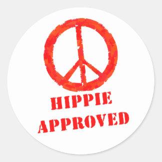 Godkänd Hippie Runt Klistermärke