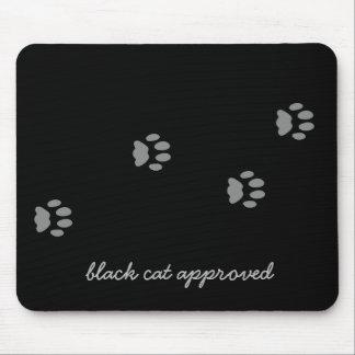 Godkänt tasstryck Mousepad för svart katt Musmatta