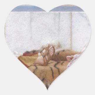 Godward - åttio och en arton hjärtformat klistermärke