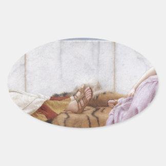 Godward - åttio och en arton ovalt klistermärke