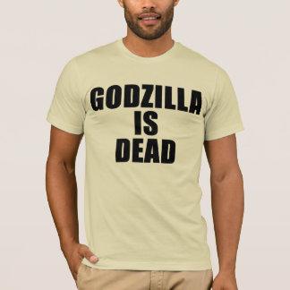 Godzilla är död (svarten) tee shirt