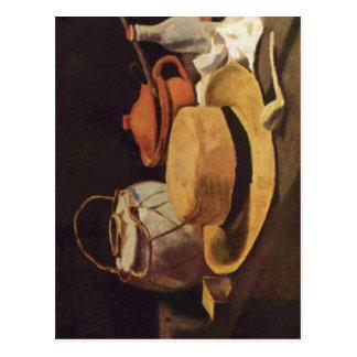 Gogh un för Vincent Willem skåpbil Stilleben mit Vykort