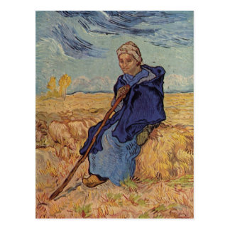 Gogh Vincent Willem skåpbil Dö Hirtin teknik 1889 Vykort
