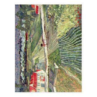 Gogh Vincent Willem skåpbil Landschaft bei Auvers Vykort