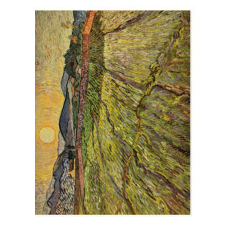 Gogh Vincent Willem skåpbil Landschaft mit-gepfl? Vykort