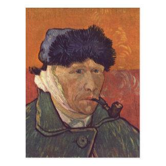 Gogh Vincent Willem skåpbil Selbstportr? Vykort