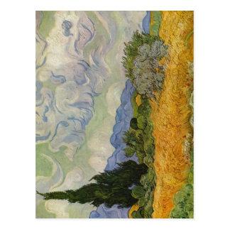 Gogh Vincent Willem skåpbil Weizenfeld mit Vykort