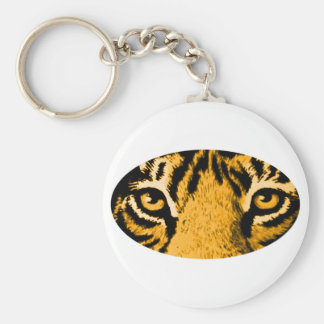 Gold Tiger Eyes jGibney The MUSEUM Zazzle Gifts Key Chain